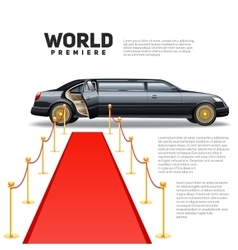 Red Carpet Limousine Colorful Picture vector
