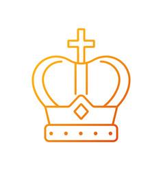 Royal crown gradient linear icon vector