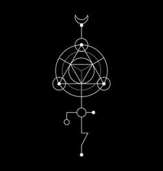 sacred geometry abstract mystic signs merkaba vector image