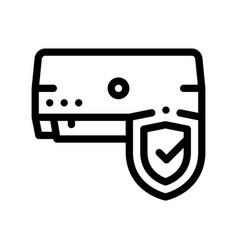 Safeguard conditioner system thin line icon vector