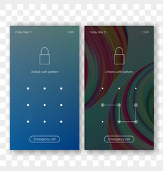 screen lock with pattern id unlock vector image