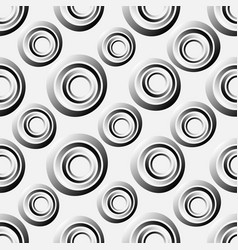 seamless background concentric circles in vector image