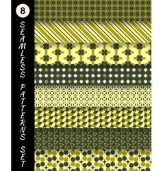 Seamless patterns set Geometric textures vector image