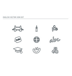 set school icons theme of education vector image