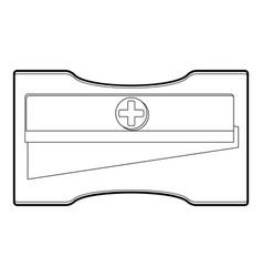 sharpener iconoutline style vector image