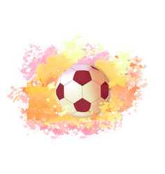 soccer ball on bright colors vector image