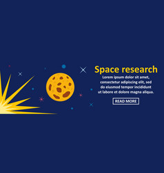 space research banner horizontal concept vector image