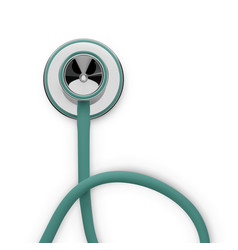 Stethoscope 3d medical tool to diagnostic and vector