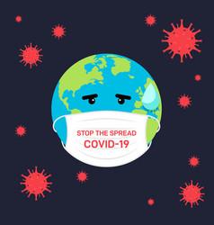 Stop spread covid-19 coronavirus concept vector