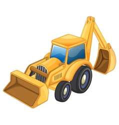 Tractor jcb vector