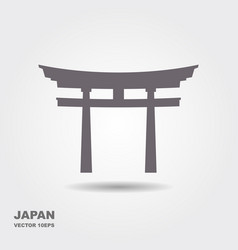 traditional japanese torii gate vector image