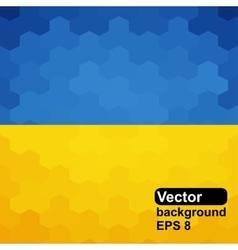 Ukrainian flag of geometric shapes vector
