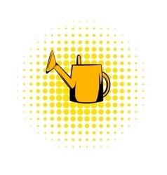 Watering can comics icon vector image