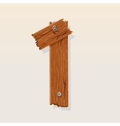 wooden type 1 vector image