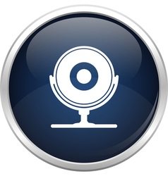 Blue webcam icon vector image