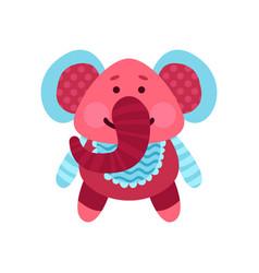 cute cartoon elephant animal toy colorful vector image