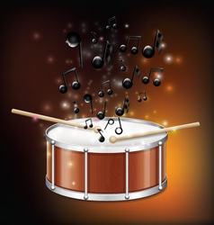 Drum With Melody vector image