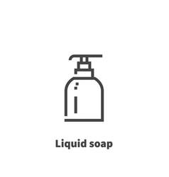 liquid soap icon symbol vector image vector image