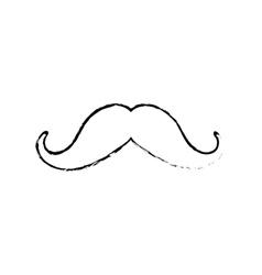 Vintage gentleman mustache vector image vector image