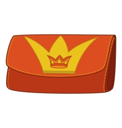 wallet with crown emblem vector image vector image