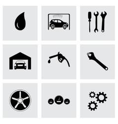 black car service icons set vector image