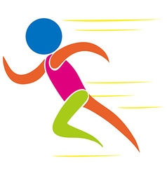 Colorful icon of man running vector image vector image