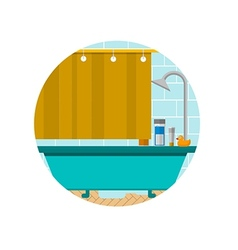 Flat icon for bathroom vector image vector image