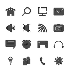 mobile icon set eps10 vector image