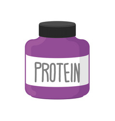 protein container packing sports nutrition on vector image vector image
