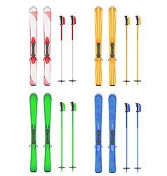 skis mountain 06 vector image