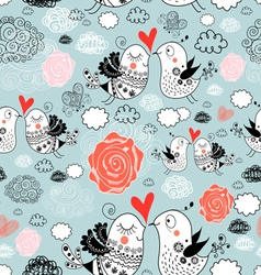 texture of love birds vector image