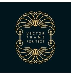 Vintage calligraphic frame modern swirl frame vector
