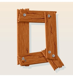 wooden letter q vector image vector image