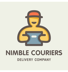 Nimble Couriers Logo vector image vector image