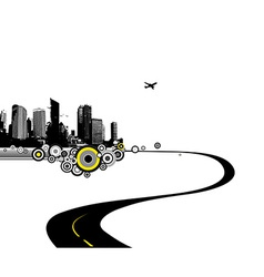 Road to city art vector image vector image