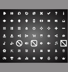 set of flat game icons in cartoon style vector image