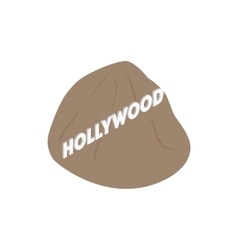 Hollywood sign icon isometric 3d style vector image