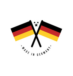 made in germany isolated certificate element vector image vector image