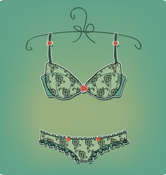 Sexy Lingerie vintage corset on white background vector image vector image