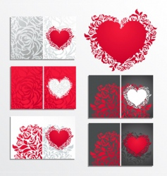 valentines day greeting cards vector image