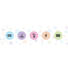 5 charge icons vector image