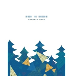 abstract fabric triangles Christmas tree vector image