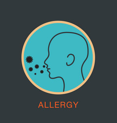 Allergy logo icon vector