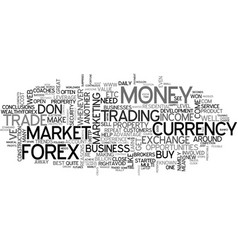 awesome reasons to trade forex text word cloud vector image