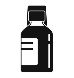 Bacough syrup icon simple style vector
