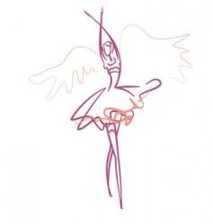 Ballet dancer vector