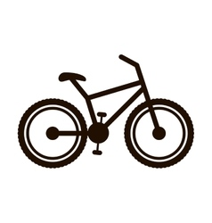 bicycle monochrome contour to the right vector image
