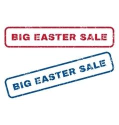 Big Easter Sale Rubber Stamps vector image