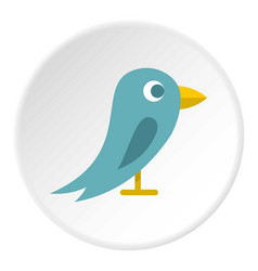 Bird icon circle vector