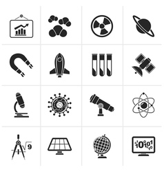 Black science research and education Icons vector